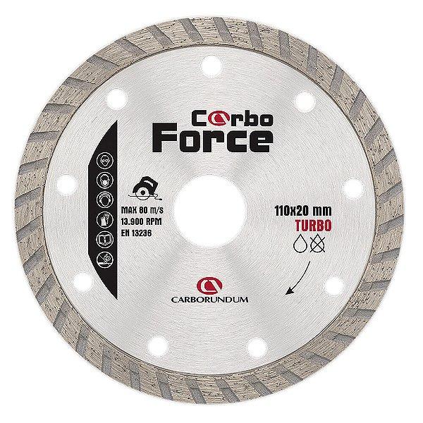Caixa com 10 Disco de Corte Carboforce Diamantado Turbo 110 x 20 mm