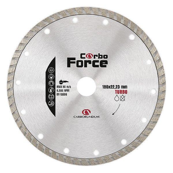 Caixa com 5 Disco de Corte Carboforce Diamantado Turbo 180 x 22,23 mm