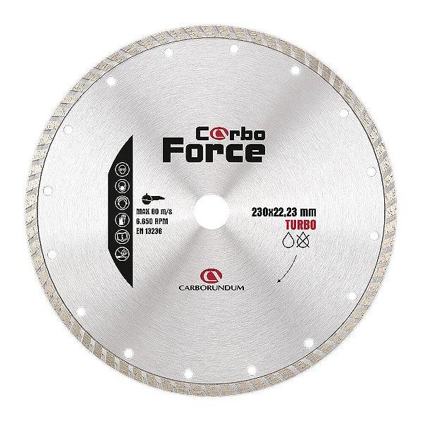 Caixa com 5 Disco de Corte Carboforce Diamantado Turbo 230 x 22,23 mm