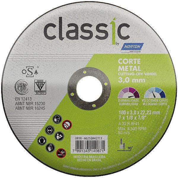 Caixa com 10 Disco de Corte Classic Basic AR302 230 x 3 x 22,23 mm