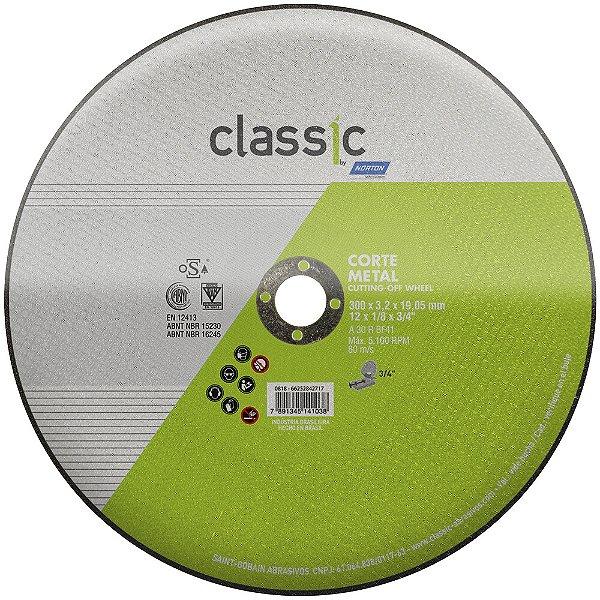 Caixa com 10 Disco de Corte Classic Basic AR302 300 x 3,2 x 19,05 mm
