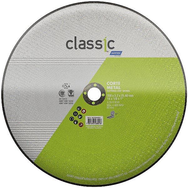 Disco de Corte Classic Basic AR302 350 x 3,2 x 25,40 mm Caixa com 10