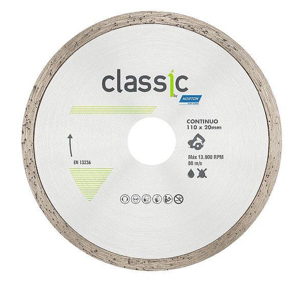 Disco de Corte Classic Contínuo Diamantado 110 x 20 mm Caixa com 10