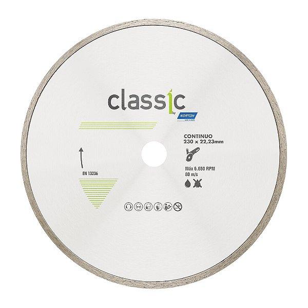Disco de Corte Classic Contínuo Diamantado 230 x 22,23 mm Caixa com 5