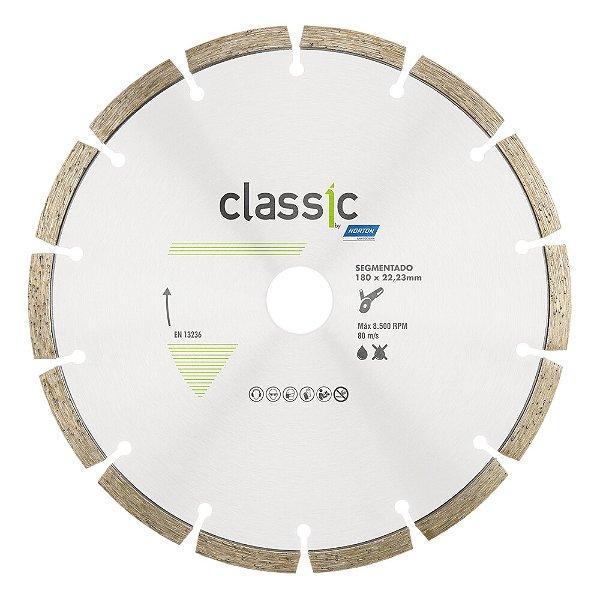 Caixa com 5 Disco de Corte Classic Segmentado Diamantado 180 x 22,23 mm
