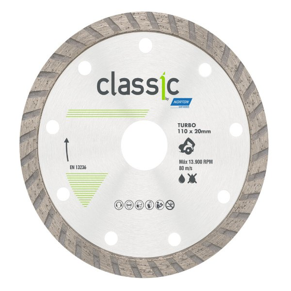 Disco de Corte Classic Turbo Diamantado 110 x 20 mm Caixa com 10