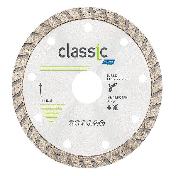 Caixa com 10 Disco de Corte Classic Turbo Diamantado 110 x 22,23 mm