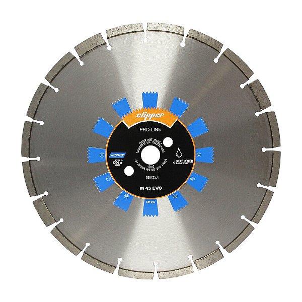 Caixa com 5 Disco de Corte Clipper Contínuo Concreto Verde Diamantado 350 x 25,4 mm