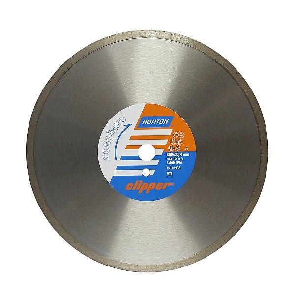 Caixa com 1 Disco de Corte Clipper Contínuo Diamantado 350 x 9,5 x 25,4 mm
