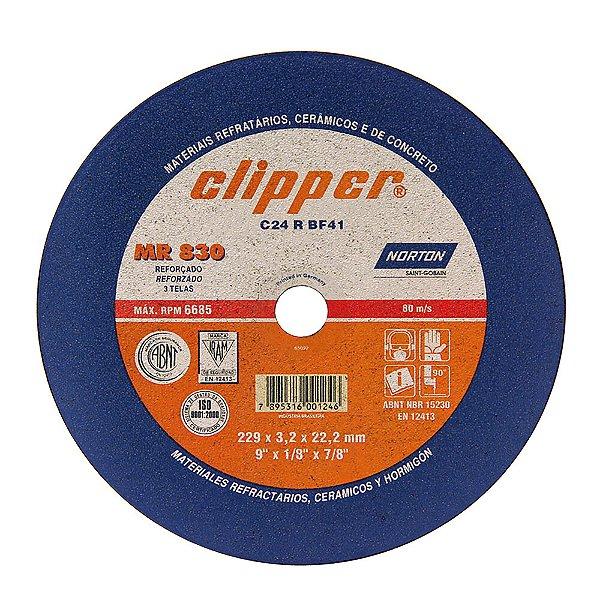 Caixa com 25 Disco de Corte Clipper MR830 Não Ferroso 230 x 3 x 22,23 mm
