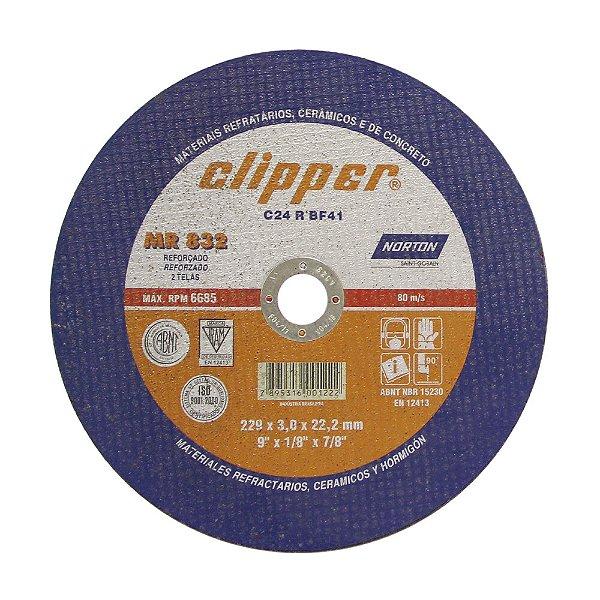 Disco de Corte Clipper MR832 Não Ferroso 230 x 3 x 22,23 mm Caixa com 25