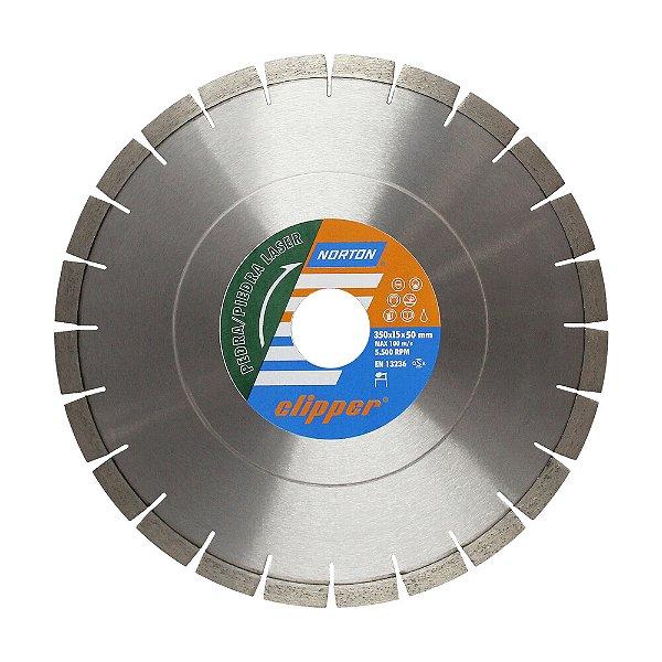 Caixa com 1 Disco de Corte Clipper Pedra Diamantado 350 x 15 x 3,2x 50 mm