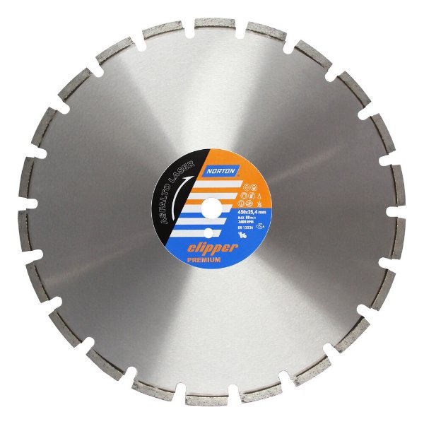 Caixa com 1 Disco de Corte Clipper Premium Asfalto Laser Diamantado 450 x 10 x 25,4 mm