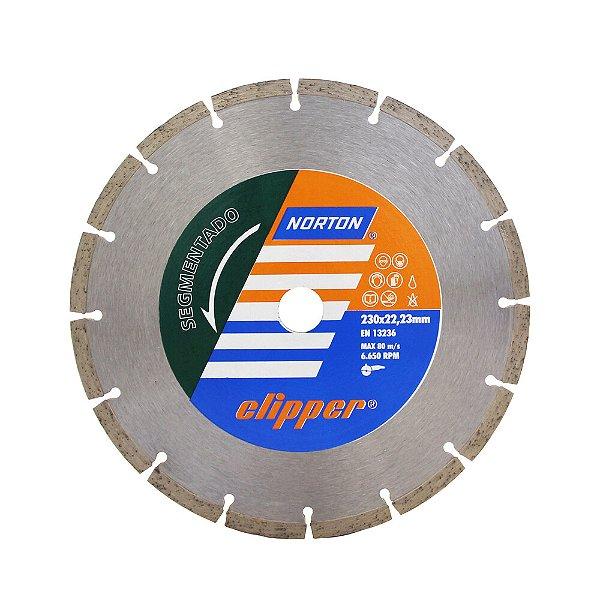 Caixa com 5 Disco de Corte Clipper Segmentado Diamantado 230 x 8 x 22,23 mm