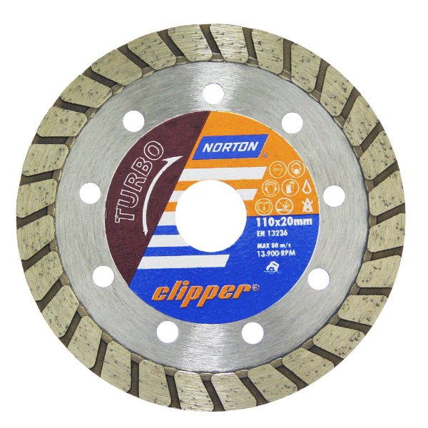 Caixa com 10 Disco de Corte Clipper Turbo Diamantado 110 x 10 x 20 mm