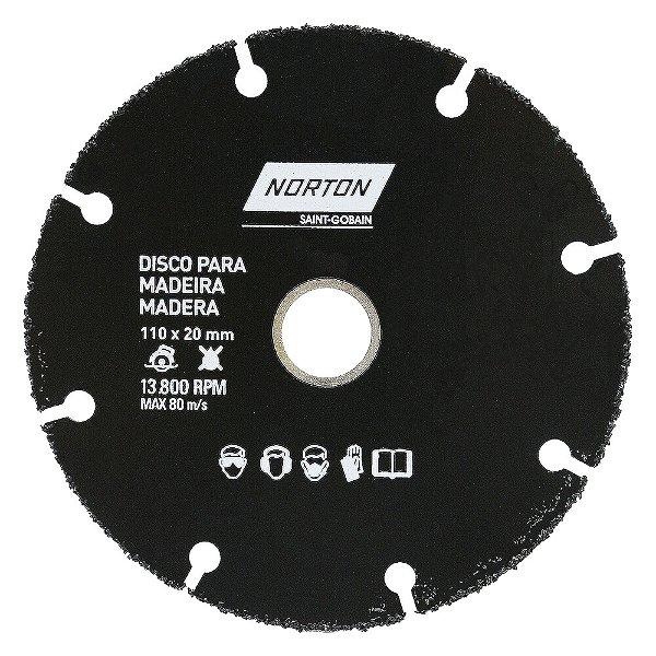 Caixa com 10 Disco de Corte Madeira Segmentado - 110 x 20 mm