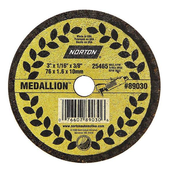 Caixa com 50 Disco de Corte Medallion 76 x 1,6 x 9,50 mm