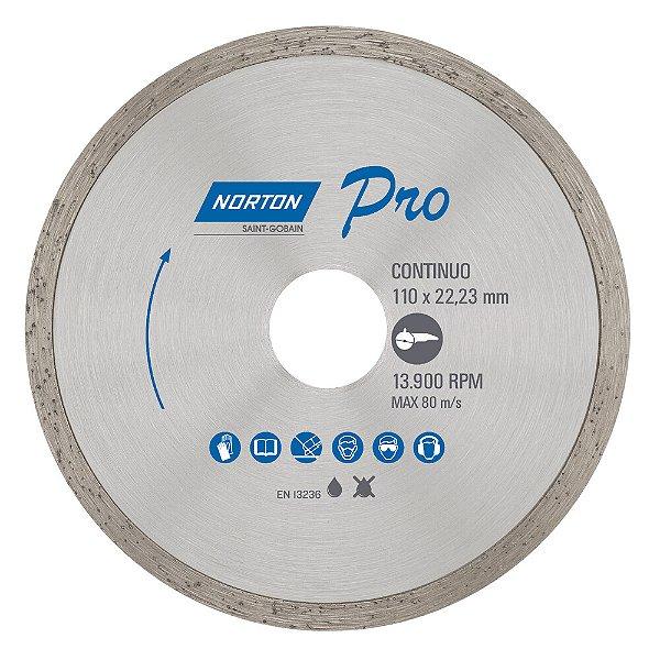 Caixa com 10 Disco de Corte Pro Contínuo Diamantado 110 x 22,23 mm