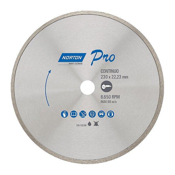 Caixa com 5 Disco de Corte Pro Contínuo Diamantado 230 x 22,23 mm