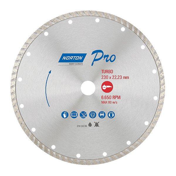 Caixa com 5 Disco de Corte Pro Turbo Diamantado 230 x 22,23 mm