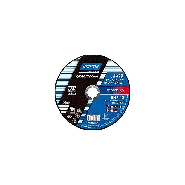 Caixa com 25 Disco de Corte Quantum BHP12 115 x 1,6 x 22,23 mm