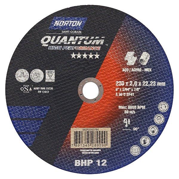 Caixa com 25 Disco de Corte Quantum BHP12 230 x 2 x 22,23 mm
