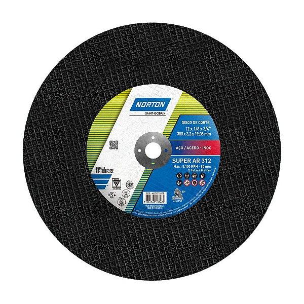 Caixa com 10 Disco de Corte Super Aços AR312 300 x 3,2 x 19,05 mm
