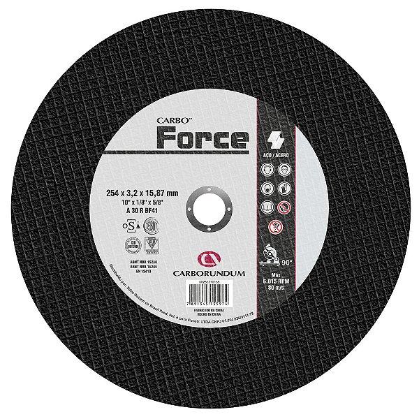 Caixa com 10 Disco de Corte T41 Carbo Force 254 x 3,2 x 15,87 mm