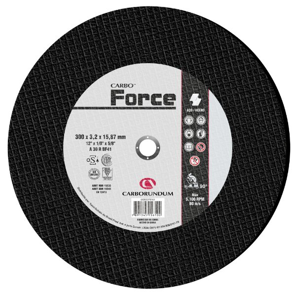 Disco de Corte T41 Carbo Force 300 x 3,2 x 15,87 mm Caixa com 10