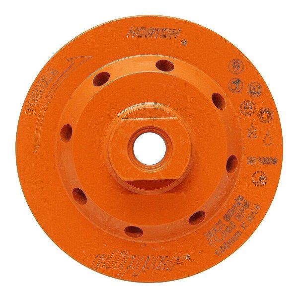 Caixa com 1 Disco de Desbaste Clipper Diamantado 100 mm Rosca M14