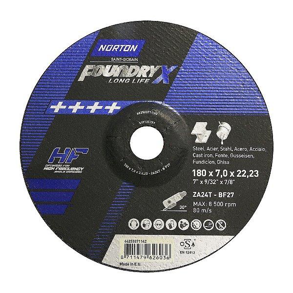 Disco de Desbaste Quantum Foundry X 180 x 7,0 x 22,23 mm Caixa com 10