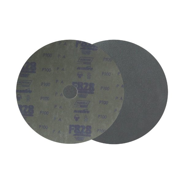 Caixa com 100 Disco de Fibra Norzon F828 Grão 100 180 x 22 mm