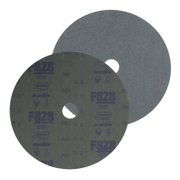 Caixa com 100 Disco de Fibra Norzon F828 Grão 80 180 x 22 mm