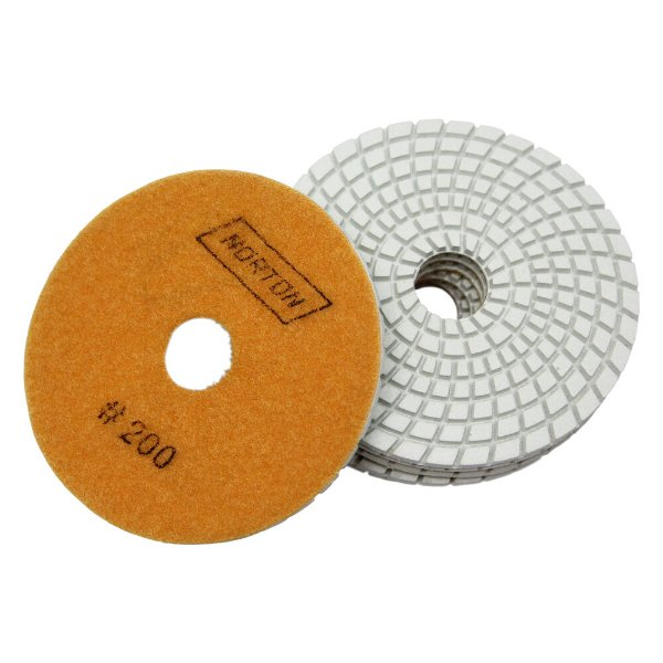 Caixa com 10 Disco de Lixa Diamantada Flexível Brilho D'Água Grão 200 - 100 x 20 mm