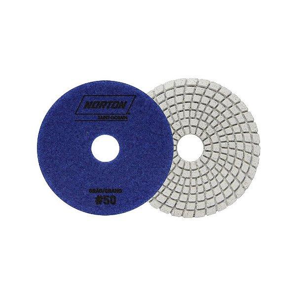 Caixa com 10 Disco de Lixa Diamantada Flexível Brilho D'Água Grão 50 - 100 x 20 mm