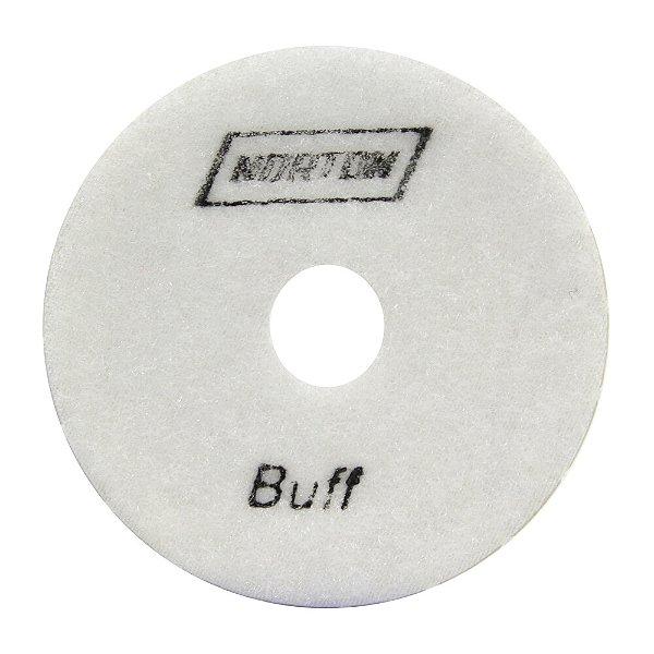 Caixa com 10 Disco de Lixa Diamantada Flexível Brilho D'Água Grão 6500 Branco - 100 x 20 mm