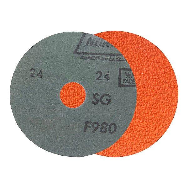 Caixa com 25 Disco de Lixa Fibra Blaze F980 Grão 24 115 x 22 mm