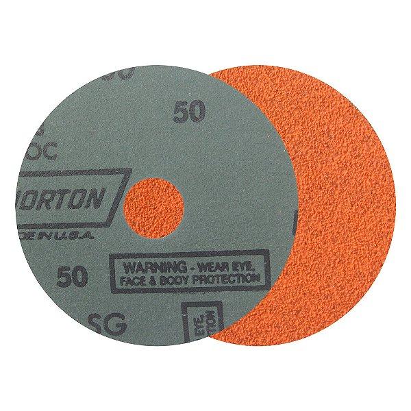 Caixa com 25 Disco de Lixa Fibra Blaze F980 Grão 50 115 x 22 mm