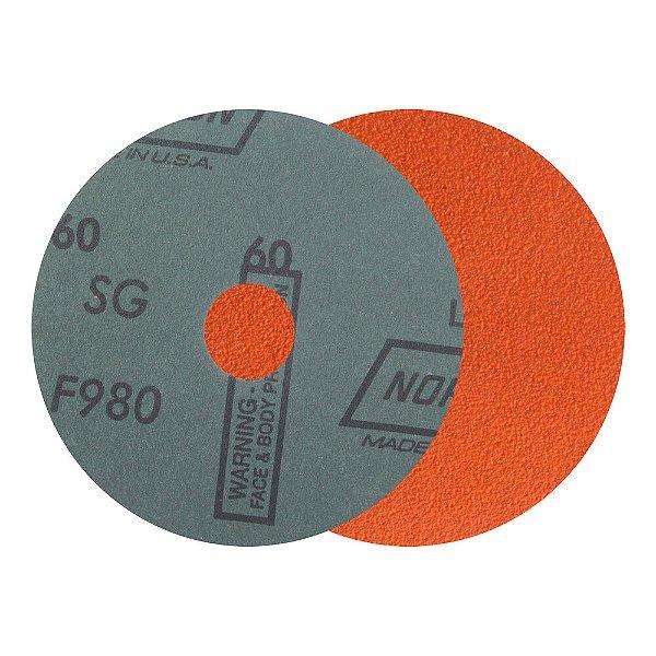 Disco de Lixa Fibra Blaze F980 Grão 60 115 x 22 mm Caixa com 25