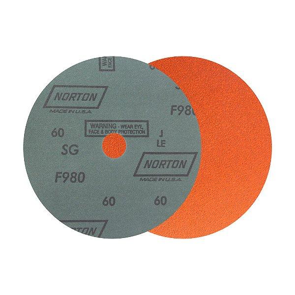 Caixa com 25 Disco de Lixa Fibra Blaze F980 Grão 60 180 x 22 mm