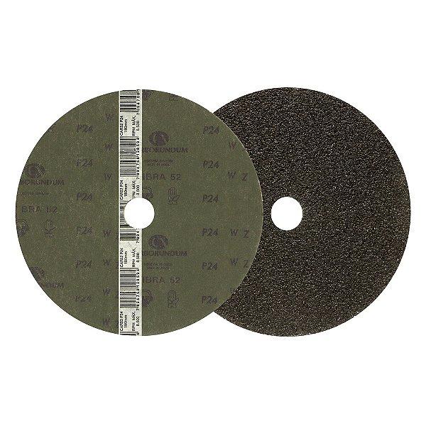 Caixa com 60 Discos de Lixa Fibra CAR52 Grão 24 180 x 22 mm