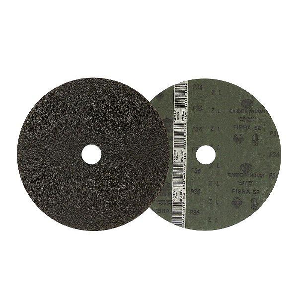 Caixa com 60 Discos de Lixa Fibra CAR52 Grão 36 180 x 22 mm