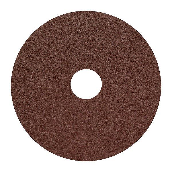 Caixa com 100 Disco de Lixa Fibra CAR55 Grão 100 115 x 22 mm