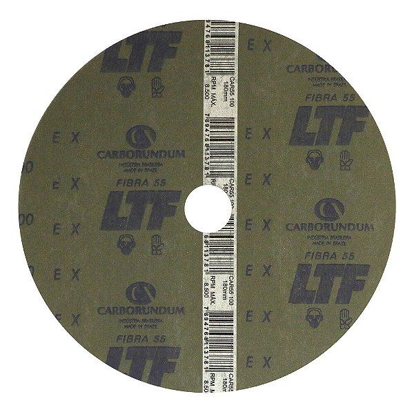 Disco de Lixa Fibra CAR55 Grão 100 180 x 22 mm Caixa com 100