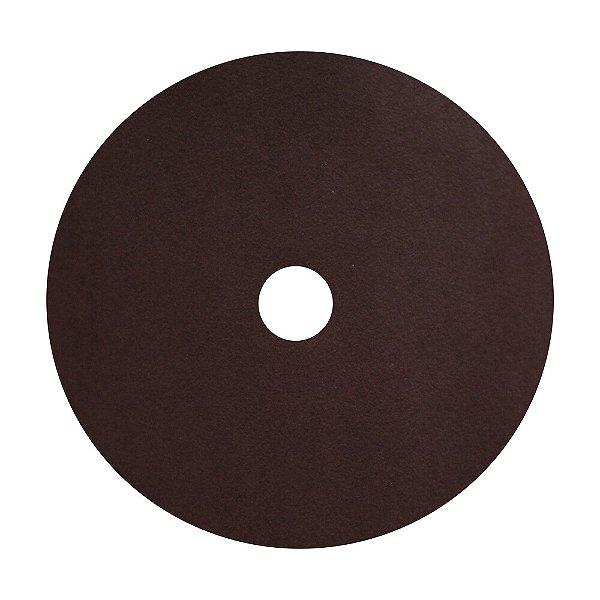 Disco de Lixa Fibra CAR55 Grão 120 180 x 22 mm Caixa com 100