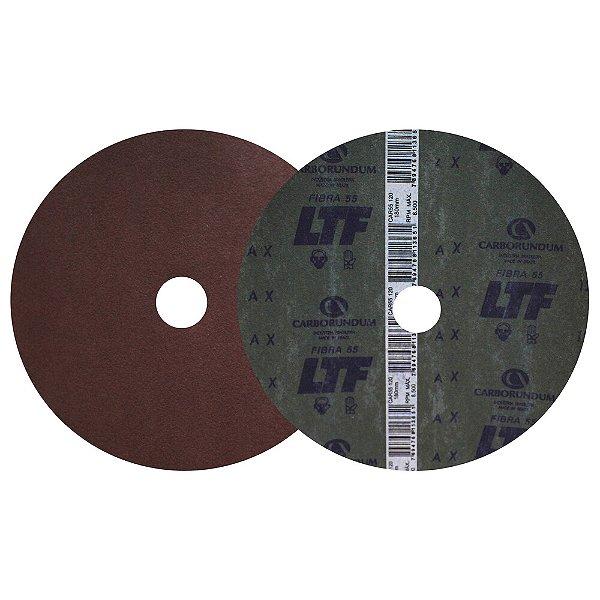 Caixa com 100 Disco de Lixa Fibra CAR55 Grão 120 180 x 22 mm