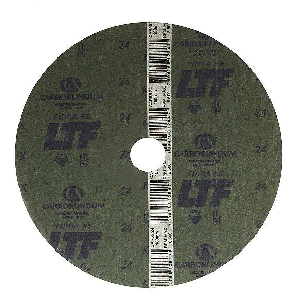 Caixa com 60 Discos de Lixa Fibra CAR55 Grão 24 180 x 22 mm