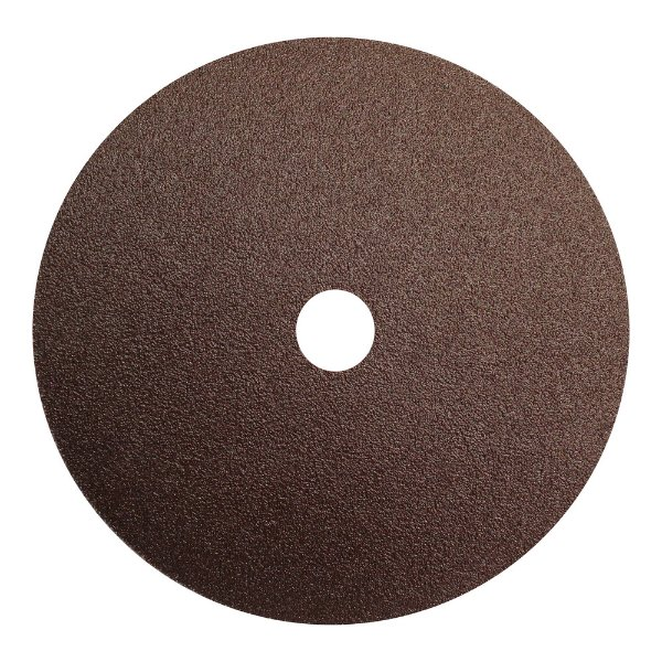 Caixa com 100 Disco de Lixa Fibra CAR55 Grão 60 180 x 22 mm