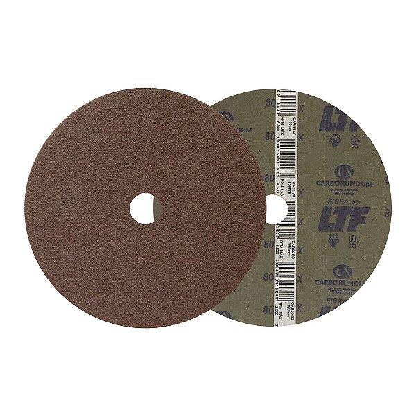 Caixa com 100 Disco de Lixa Fibra CAR55 Grão 80 180 x 22 mm