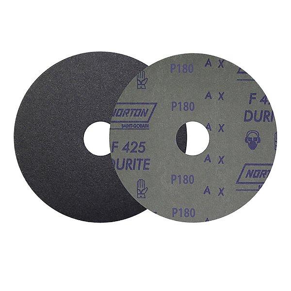 Caixa com 100 Disco de Lixa Fibra Durite F425 Grão 180 180 x 22 mm
